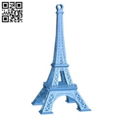 Eiffel Tower Keychain B006212 download free stl files 3d model for 3d printer and CNC carving
