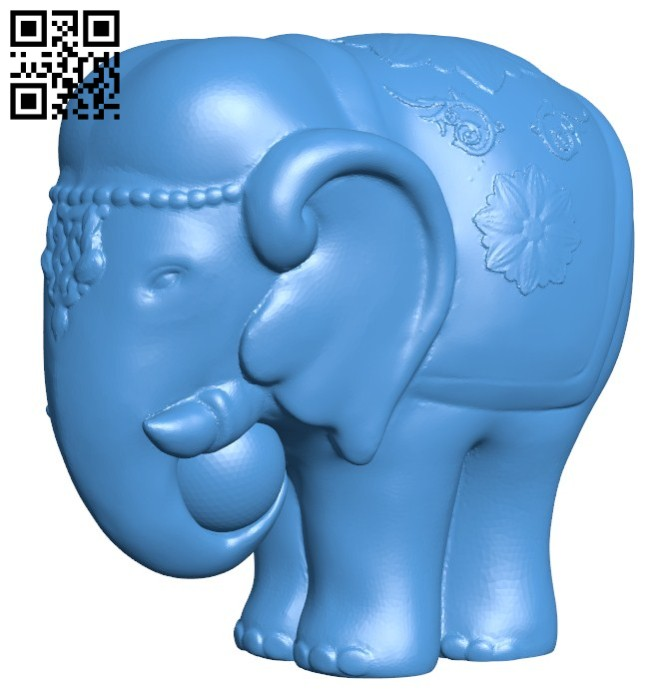 Elephant sculpture B005845 download free stl files 3d model for 3d printer and CNC carving