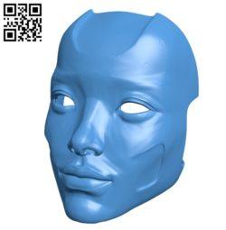 Eva Mask B006207 download free stl files 3d model for 3d printer and CNC carving