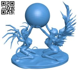 Evil angel B006033 download free stl files 3d model for 3d printer and CNC carving