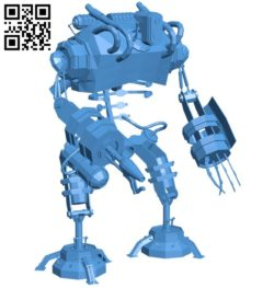 Fighter Robot B005975 download free stl files 3d model for 3d printer and CNC carving