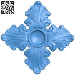 Flower pattern design A004213 download free stl files 3d model for CNC wood carving