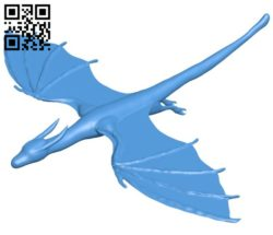 Flying dragon B006135 download free stl files 3d model for 3d printer and CNC carving