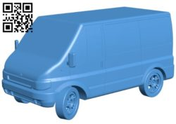 Ford Transit car B006137 download free stl files 3d model for 3d printer and CNC carving
