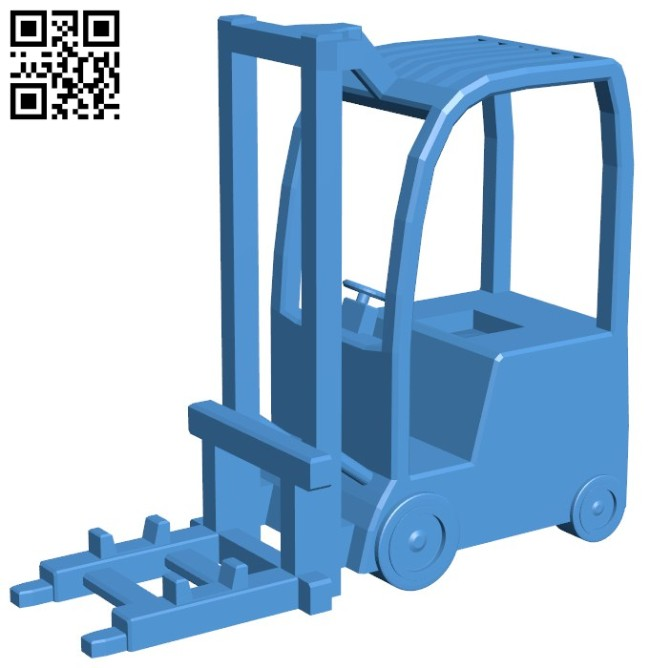Forklift Phone Stand B006133 download free stl files 3d model for 3d printer and CNC carving