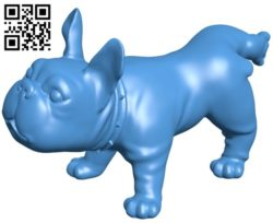 French bulldog B005796 download free stl files 3d model for 3d printer and CNC carving