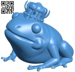 Frog king B006151 download free stl files 3d model for 3d printer and CNC carving