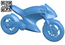 Futuristic Bike B006152 download free stl files 3d model for 3d printer and CNC carving