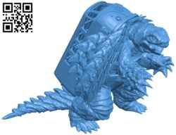 Gamera super turtle bus B005812 download free stl files 3d model for 3d printer and CNC carving