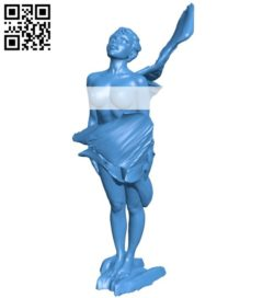 Girl on fire B006278 download free stl files 3d model for 3d printer and CNC carving
