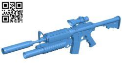 Gun M16 B006061 download free stl files 3d model for 3d printer and CNC carving