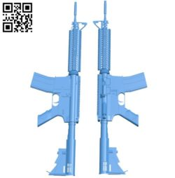 Gun M4A1 A004197 download free stl files 3d model for CNC wood carving