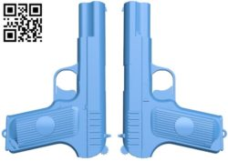 Gun TT-33 A004196 download free stl files 3d model for CNC wood carving