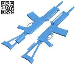 Gun saiga A004195 download free stl files 3d model for CNC wood carving