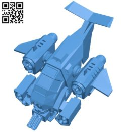 Gunship – aircraft B006035 download free stl files 3d model for 3d printer and CNC carving