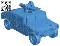 Hammer car with rocket launcher B006018 download free stl files 3d model for 3d printer and CNC carving