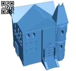 Haunted house B005797 download free stl files 3d model for 3d printer and CNC carving