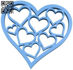 Heart shape B005971 download free stl files 3d model for 3d printer and CNC carving