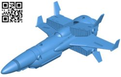 Hellray ship B006054 download free stl files 3d model for 3d printer and CNC carving