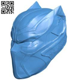 Helmet black panther B006173 download free stl files 3d model for 3d printer and CNC carving