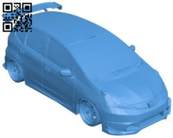 Honda Jazz car B005897 download free stl files 3d model for 3d printer and CNC carving