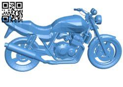 Honda motorbike B005821 download free stl files 3d model for 3d printer and CNC carving
