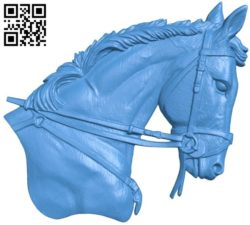 Horse head A004235 download free stl files 3d model for CNC wood carving
