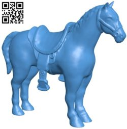 Horse saddled B005822 download free stl files 3d model for 3d printer and CNC carving