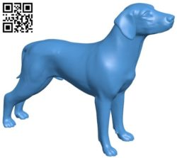 Hunter dog B005911 download free stl files 3d model for 3d printer and CNC carving