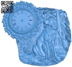 Hunting wall clock A004259 download free stl files 3d model for CNC wood carving