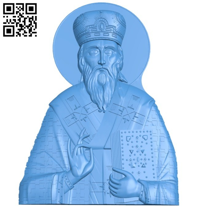 Icon Vasily Ostrovsky A004317 download free stl files 3d model for CNC wood carving