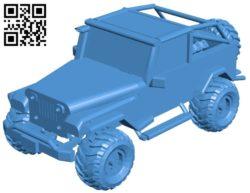 Jeep Wrangler Car B005982 download free stl files 3d model for 3d printer and CNC carving