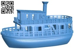 Jungle ship B006254 download free stl files 3d model for 3d printer and CNC carving