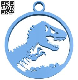 Jurassic park keychain B006296 download free stl files 3d model for 3d printer and CNC carving