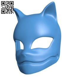 Kitsune mask B006182 download free stl files 3d model for 3d printer and CNC carving