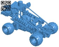Lego police car B006290 download free stl files 3d model for 3d printer and CNC carving