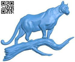 Leopard on a branch A004320 download free stl files 3d model for CNC wood carving