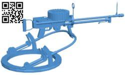 Lewis machine gun B006046 download free stl files 3d model for 3d printer and CNC carving