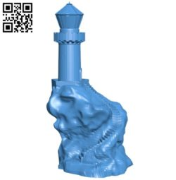 Light house on the hill B005847 download free stl files 3d model for 3d printer and CNC carving