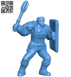 Male Warrior Statue B005941 download free stl files 3d model for 3d printer and CNC carving