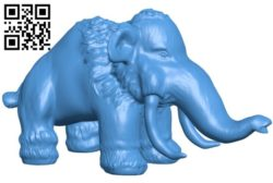 Mammoth B005851 download free stl files 3d model for 3d printer and CNC carving