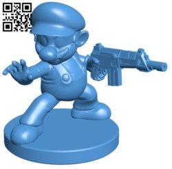 Mario gun B006060 download free stl files 3d model for 3d printer and CNC carving