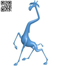 Melman giraffe B006105 download free stl files 3d model for 3d printer and CNC carving