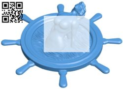 Mermaid Steering Wheel B006114 download free stl files 3d model for 3d printer and CNC carving
