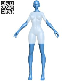 Miss Anime B005882 download free stl files 3d model for 3d printer and CNC carving