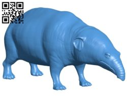 Moeritherium B005857 download free stl files 3d model for 3d printer and CNC carving