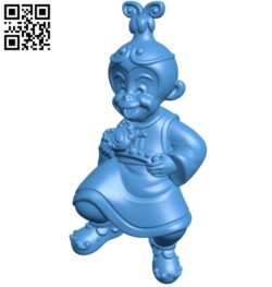 Monkey King kid B005985 download free stl files 3d model for 3d printer and CNC carving