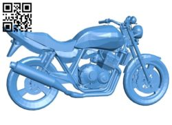 Motorcycle Honda CB 400 B006157 download free stl files 3d model for 3d printer and CNC carving