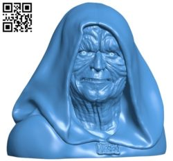 Mr Darth Sidious B006041 download free stl files 3d model for 3d printer and CNC carving
