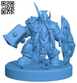 Mr Dwarf paladin B006057 download free stl files 3d model for 3d printer and CNC carving